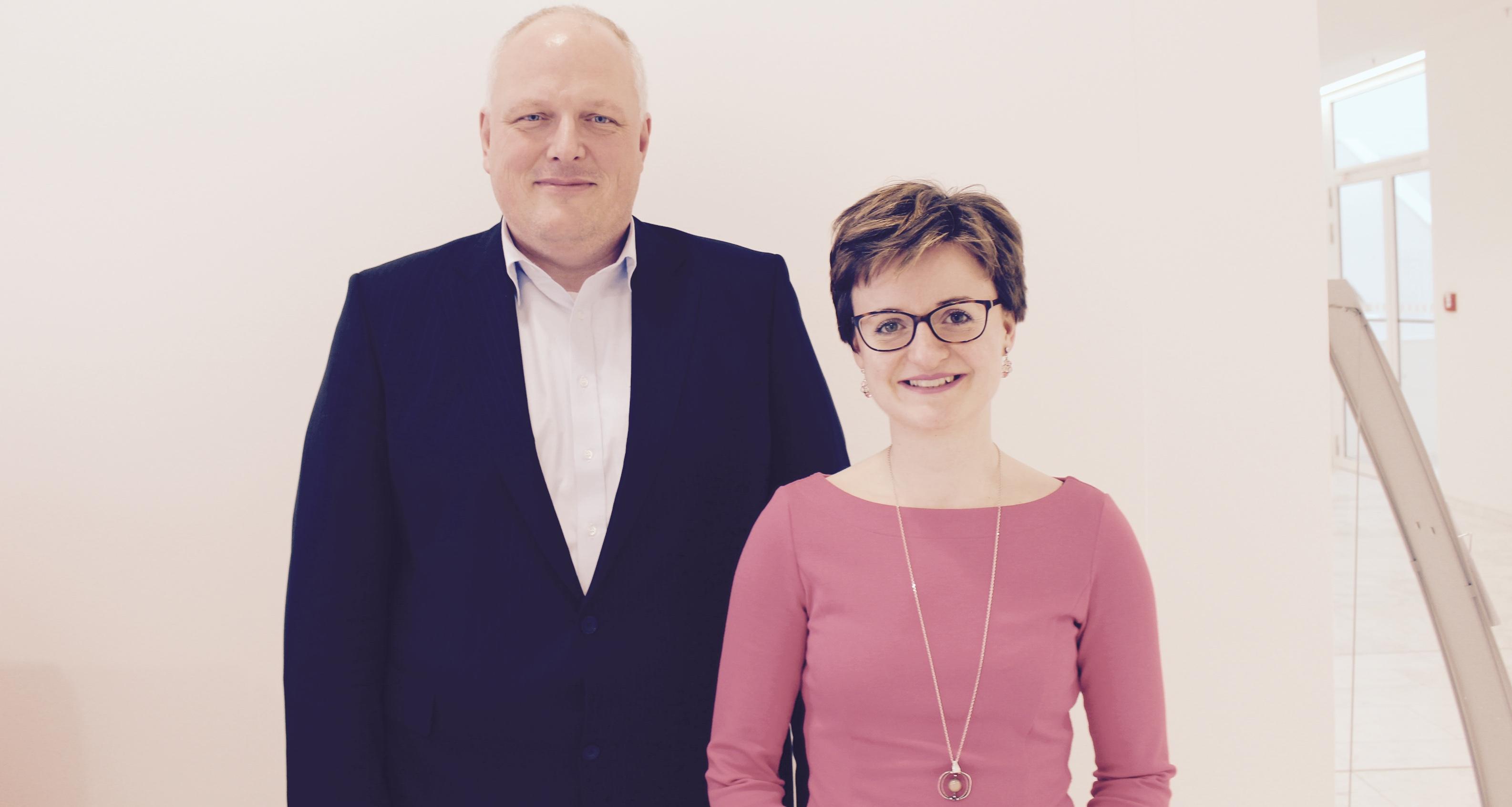 Ulrich Kelber (Staatssekretär im Bundesministerium für Justiz und Verbraucherschutz) und Stephanie Dehne