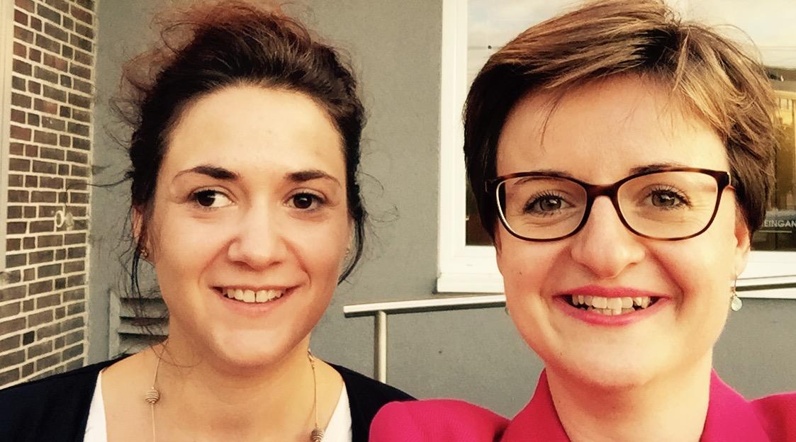Sarah Ryglewski, Mitglied des Bundestages, und Stephanie Dehne